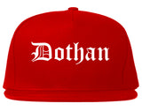 Dothan Alabama AL Old English Mens Snapback Hat Red