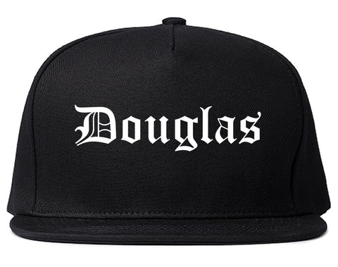 Douglas Arizona AZ Old English Mens Snapback Hat Black