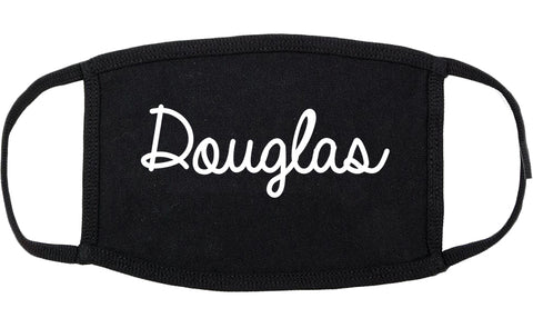Douglas Georgia GA Script Cotton Face Mask Black