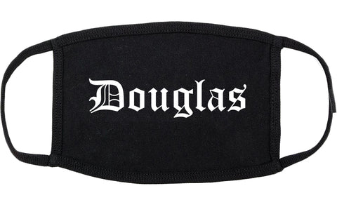 Douglas Wyoming WY Old English Cotton Face Mask Black