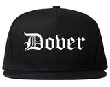 Dover Delaware DE Old English Mens Snapback Hat Black