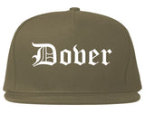 Dover Delaware DE Old English Mens Snapback Hat Grey