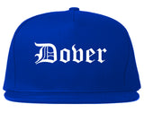 Dover Delaware DE Old English Mens Snapback Hat Royal Blue