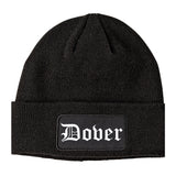 Dover Delaware DE Old English Mens Knit Beanie Hat Cap Black