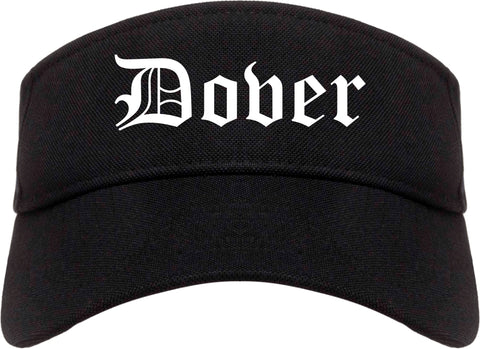 Dover New Hampshire NH Old English Mens Visor Cap Hat Black