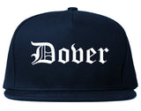 Dover New Jersey NJ Old English Mens Snapback Hat Navy Blue