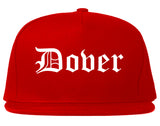 Dover New Jersey NJ Old English Mens Snapback Hat Red