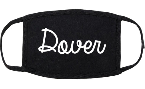 Dover New Jersey NJ Script Cotton Face Mask Black