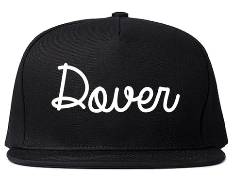 Dover New Jersey NJ Script Mens Snapback Hat Black