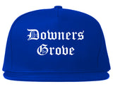 Downers Grove Illinois IL Old English Mens Snapback Hat Royal Blue