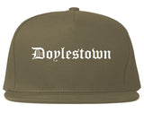 Doylestown Pennsylvania PA Old English Mens Snapback Hat Grey