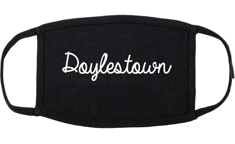 Doylestown Pennsylvania PA Script Cotton Face Mask Black
