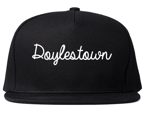 Doylestown Pennsylvania PA Script Mens Snapback Hat Black