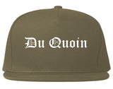 Du Quoin Illinois IL Old English Mens Snapback Hat Grey