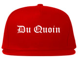 Du Quoin Illinois IL Old English Mens Snapback Hat Red