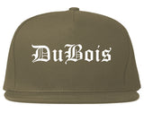 DuBois Pennsylvania PA Old English Mens Snapback Hat Grey
