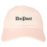 DuPont Washington WA Old English Mens Dad Hat Baseball Cap Pink