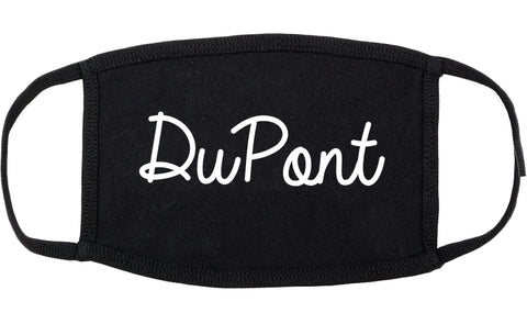 DuPont Washington WA Script Cotton Face Mask Black