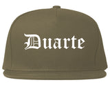 Duarte California CA Old English Mens Snapback Hat Grey