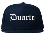 Duarte California CA Old English Mens Snapback Hat Navy Blue
