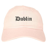 Dublin Georgia GA Old English Mens Dad Hat Baseball Cap Pink