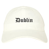 Dublin Georgia GA Old English Mens Dad Hat Baseball Cap White