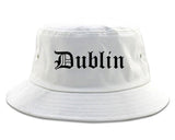 Dublin Georgia GA Old English Mens Bucket Hat White