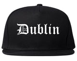 Dublin Ohio OH Old English Mens Snapback Hat Black