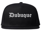 Dubuque Iowa IA Old English Mens Snapback Hat Black