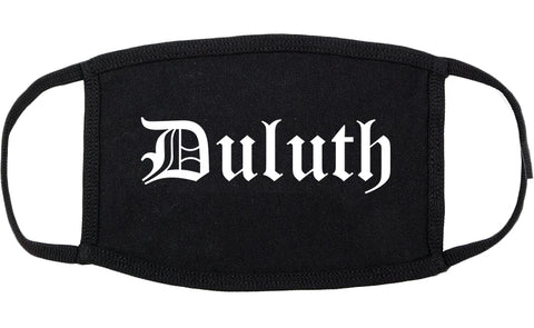 Duluth Georgia GA Old English Cotton Face Mask Black