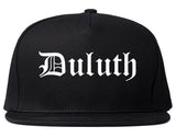 Duluth Georgia GA Old English Mens Snapback Hat Black