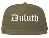 Duluth Georgia GA Old English Mens Snapback Hat Grey
