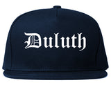 Duluth Georgia GA Old English Mens Snapback Hat Navy Blue