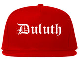 Duluth Georgia GA Old English Mens Snapback Hat Red