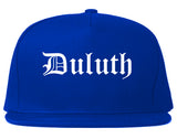 Duluth Georgia GA Old English Mens Snapback Hat Royal Blue
