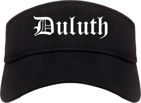 Duluth Georgia GA Old English Mens Visor Cap Hat Black