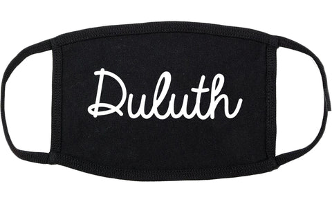 Duluth Minnesota MN Script Cotton Face Mask Black