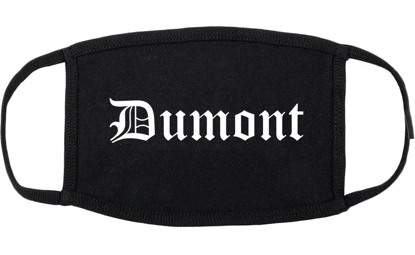 Dumont New Jersey NJ Old English Cotton Face Mask Black