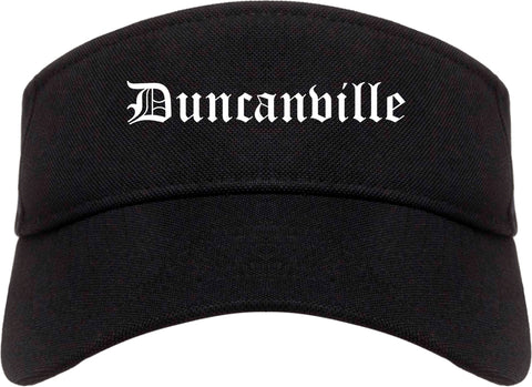 Duncanville Texas TX Old English Mens Visor Cap Hat Black