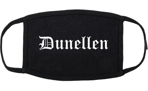 Dunellen New Jersey NJ Old English Cotton Face Mask Black