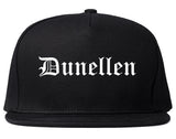 Dunellen New Jersey NJ Old English Mens Snapback Hat Black