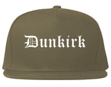 Dunkirk New York NY Old English Mens Snapback Hat Grey