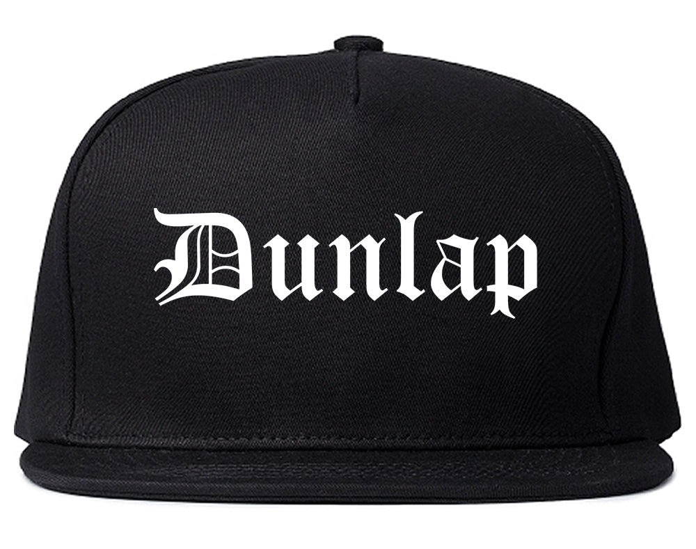 Dunlap Tennessee TN Old English Mens Snapback Hat Black