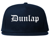 Dunlap Tennessee TN Old English Mens Snapback Hat Navy Blue