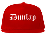 Dunlap Tennessee TN Old English Mens Snapback Hat Red