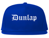 Dunlap Tennessee TN Old English Mens Snapback Hat Royal Blue