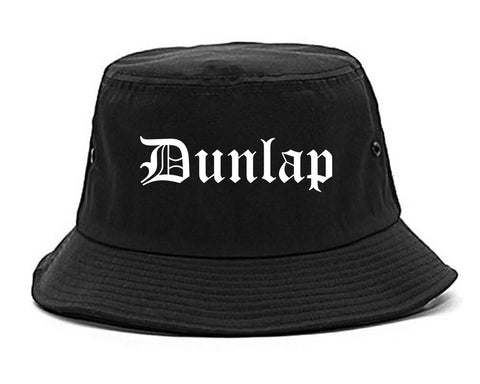 Dunlap Tennessee TN Old English Mens Bucket Hat Black