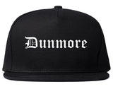 Dunmore Pennsylvania PA Old English Mens Snapback Hat Black