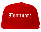 Dunmore Pennsylvania PA Old English Mens Snapback Hat Red