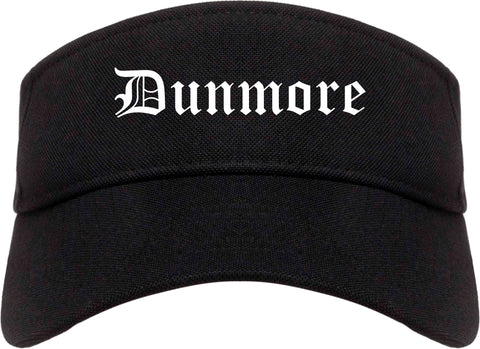 Dunmore Pennsylvania PA Old English Mens Visor Cap Hat Black